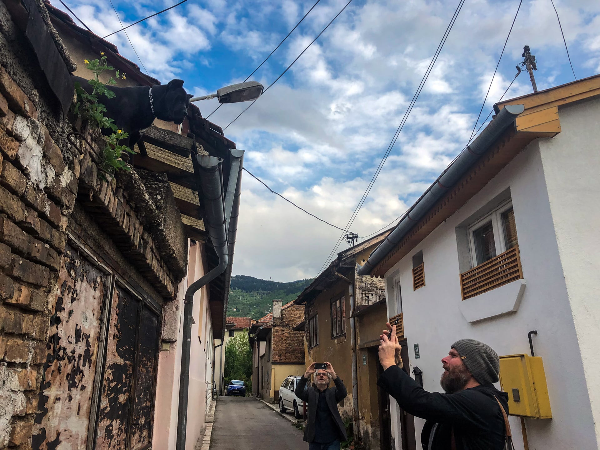 VII Photo Agency's Danny Wilcox Frazier (right) and Seamus Murphy explore the old town of Sarajevo. ©Nichole Sobecki / VII