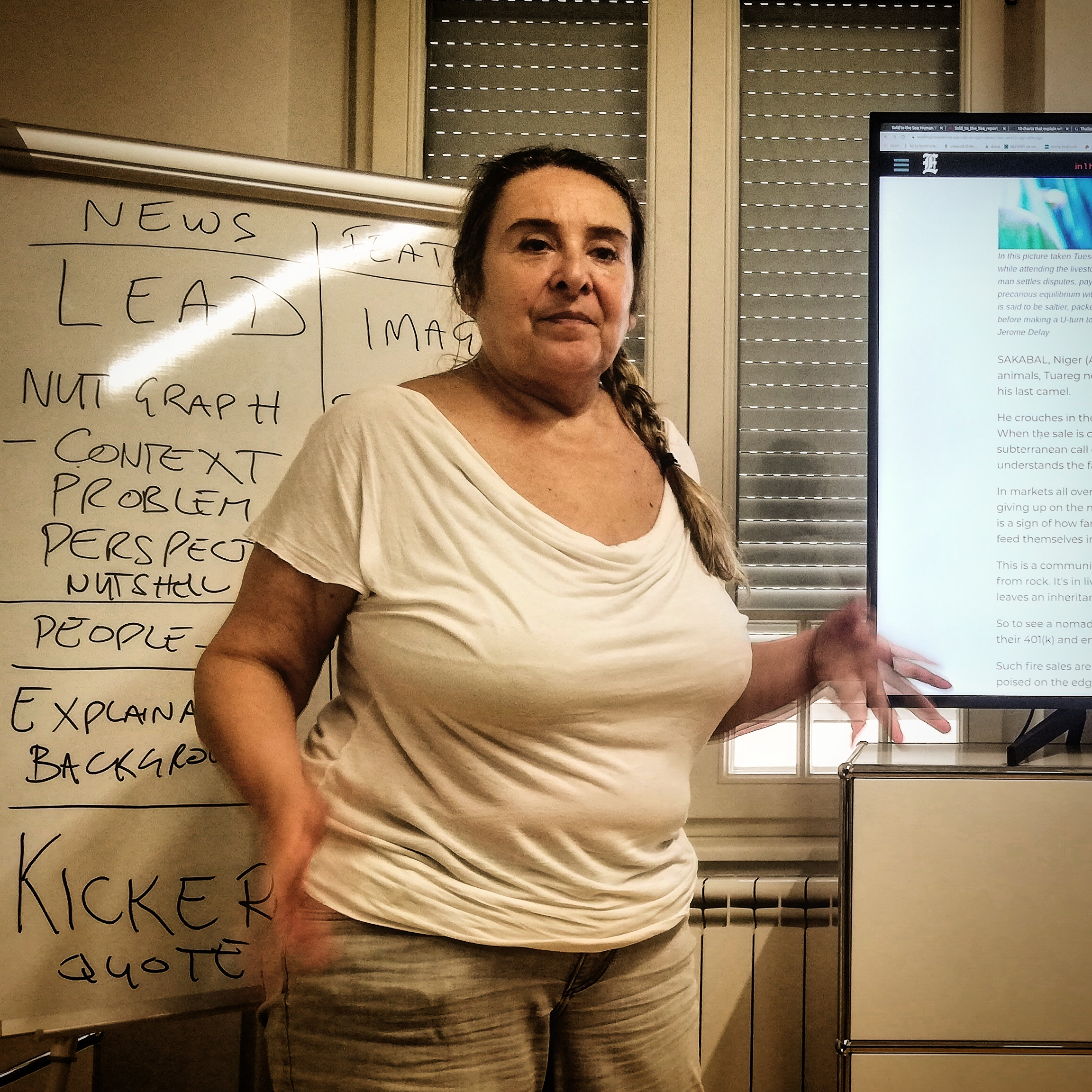 Aida Cerkez on news reporting and writing. ©Nerma Sofic
