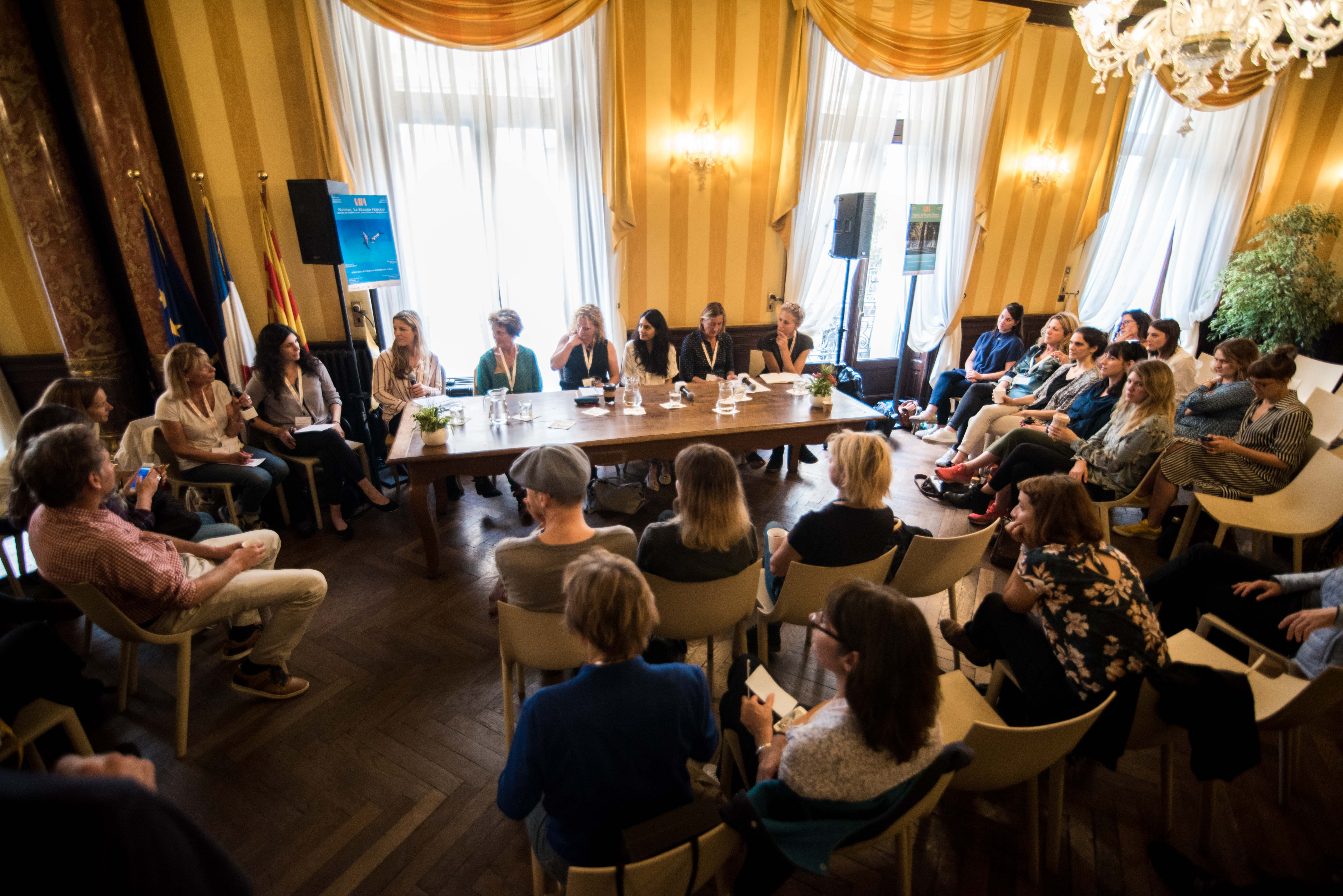 """The panel discussion """"Women in the Field, Barriers and Solutions"""" on Saturday, October 19, 2019 at the Nature: Through Her Eyes festival hosted by the VII Academy. © Stephane Ferrer Yulianti"""