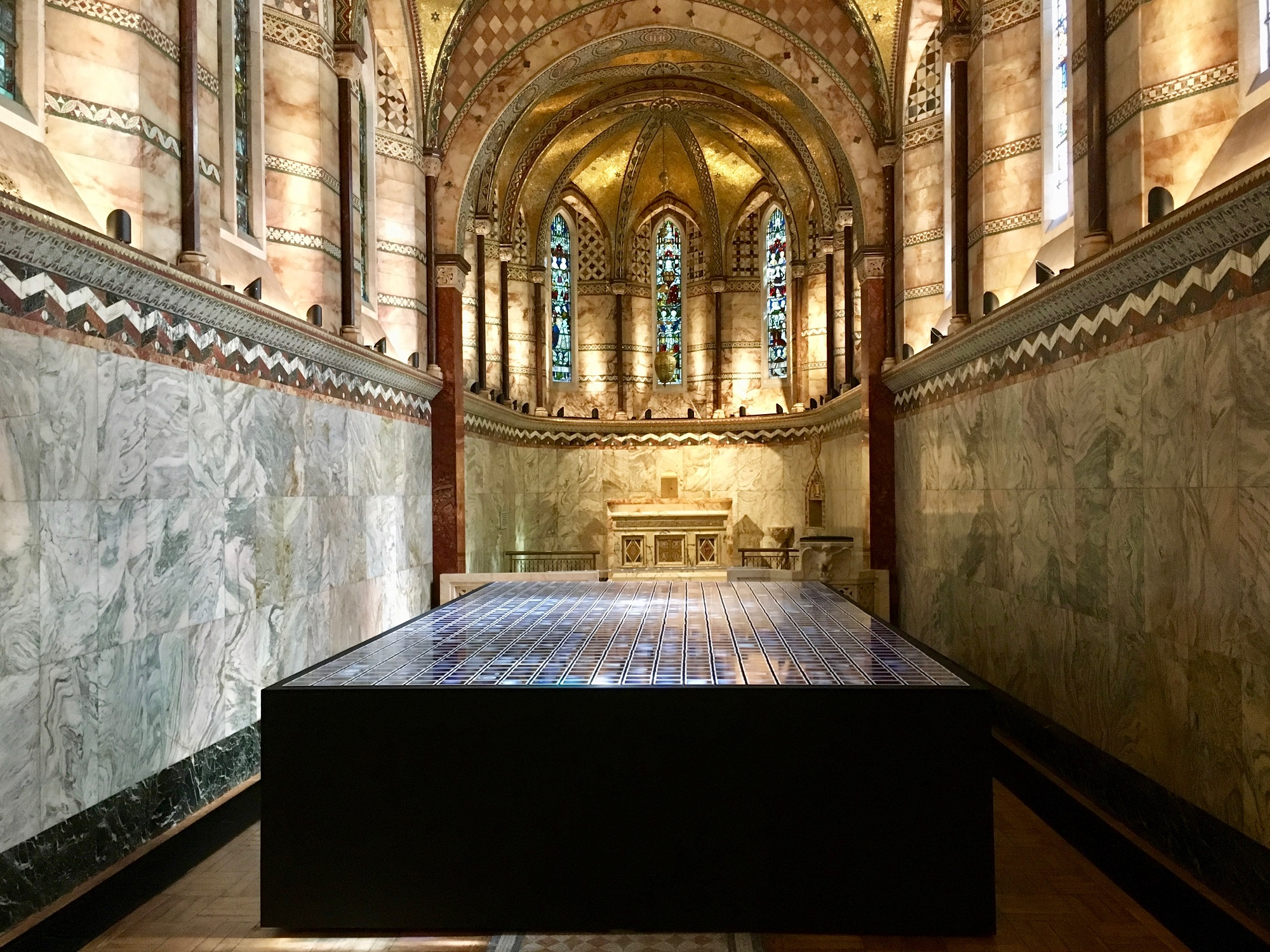 Blues Skies Project exhibition at Fitzrovia Chapel during PhotoLondon 2019 ©Monica Allende
