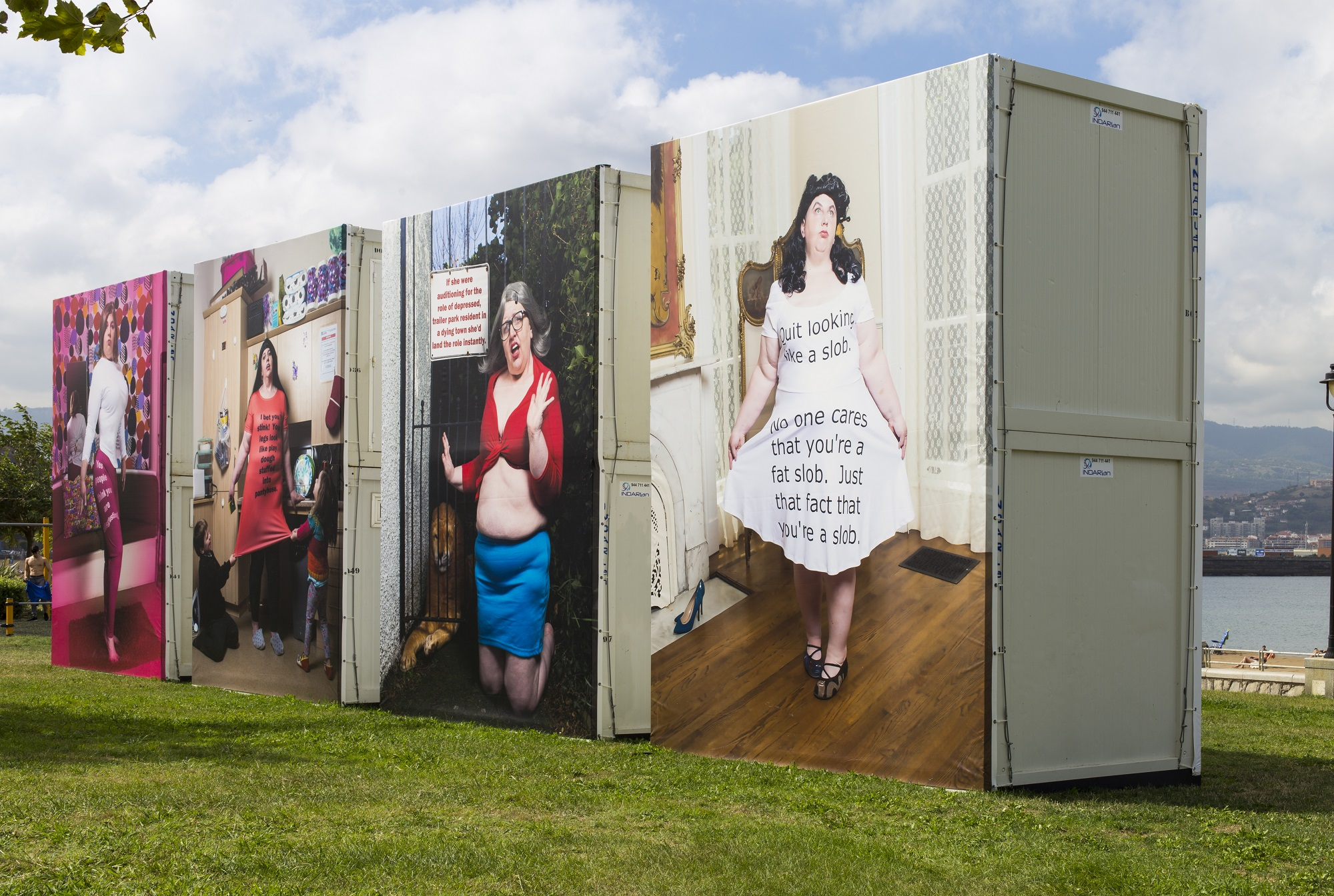 Installation from GetxoPhoto International Image festival of Haley Morris-Cafiero project, The Bully Pulpit ©Monica Allende